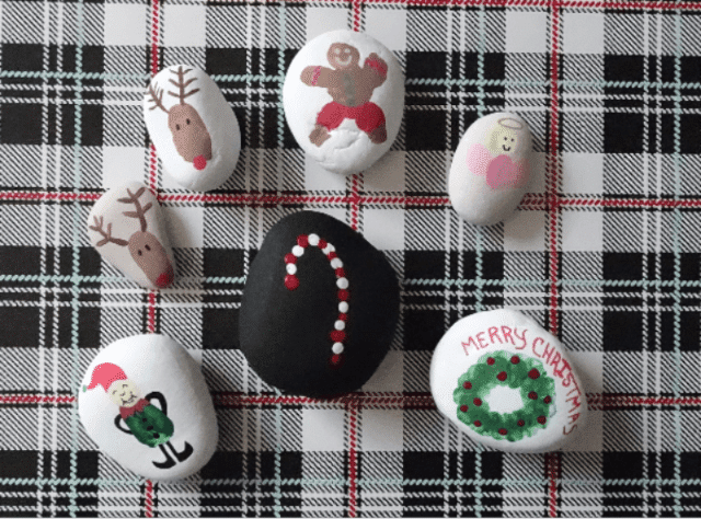 Mom Approved – Christmas Rock Painting Crafts that your kids will love