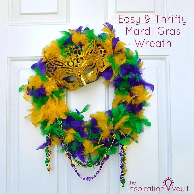 Easy-Thrifty-Mardi-Gras-Wreath-