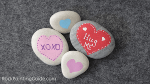 Easy Valentine's Day Rock Painting Crafts Roundup
