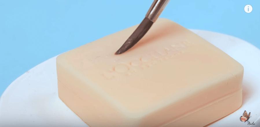 paintbrush on soap