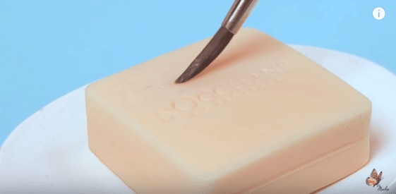 paintbrush on soap