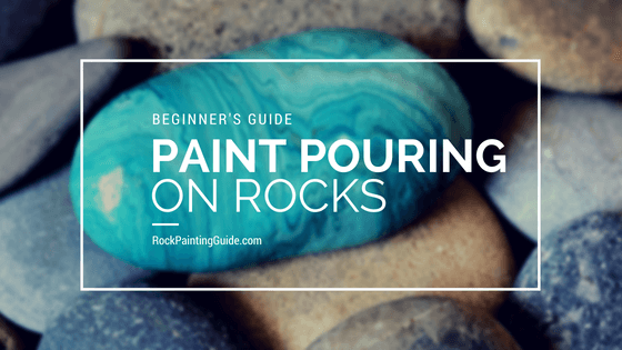 teal painted rock