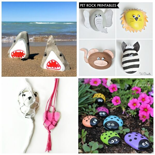 summer rock painting ideas collage 1