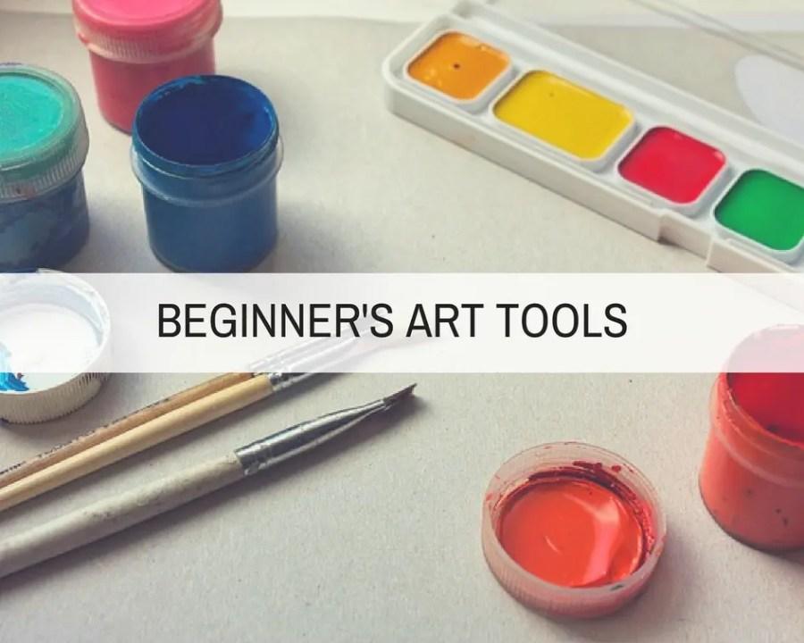 beginners art tools - Beginner's Guide to Rock Painting