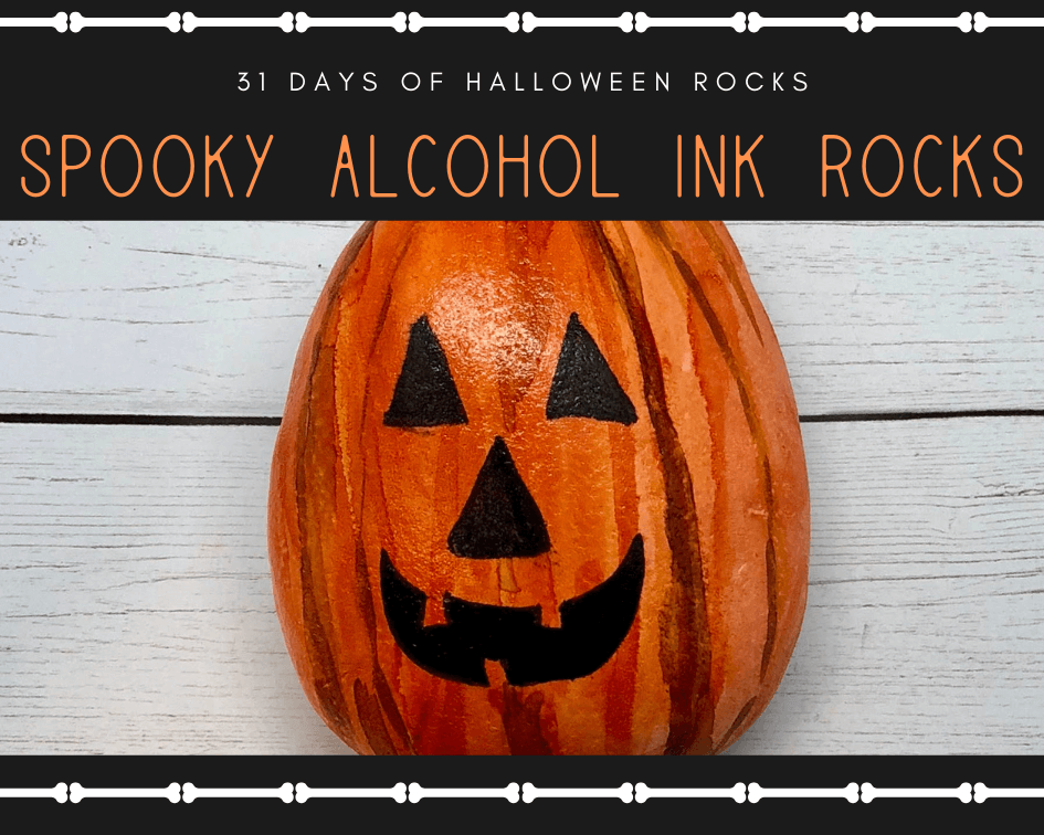 jacklantern blog 1 1 - Halloween Rock Painting Ideas (Alcohol Inks Edition)