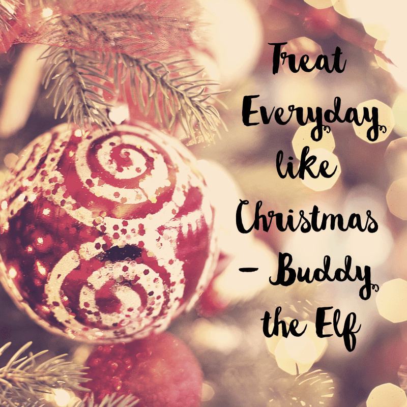 Christmas quote with tree background