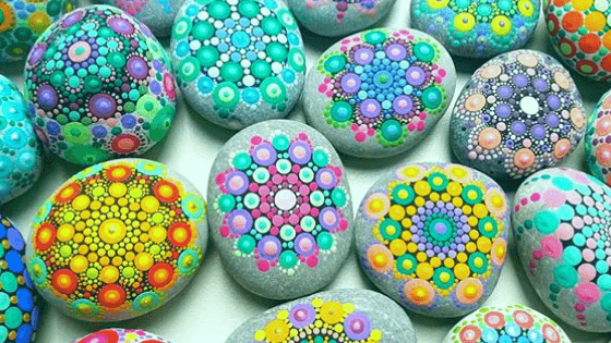 Introducing 1 - Featured Artist: Eszter Csóka, Chakra Mandala Stones