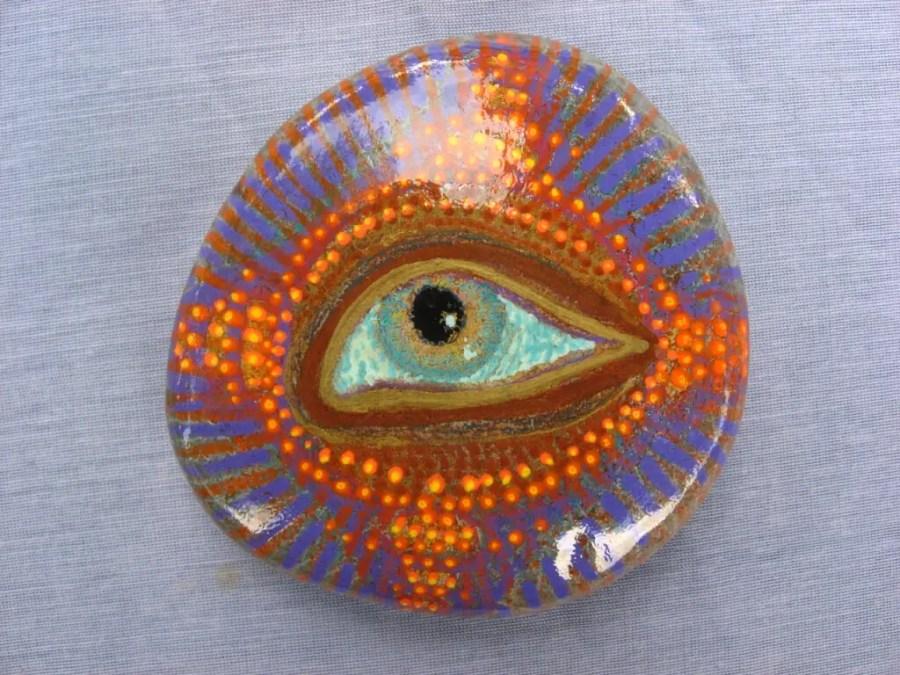 eye rock painting