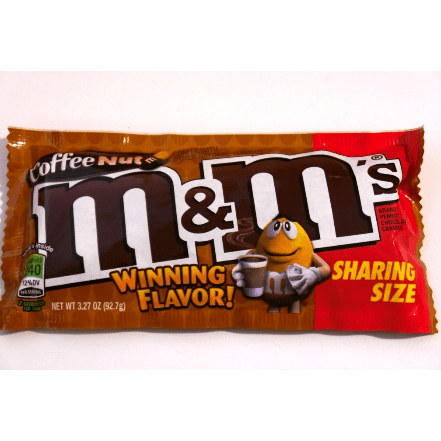 Image of a bag of M and M's Coffee Nut Share Bag