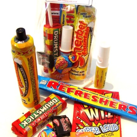 Image of the mega memory bag. Party bag containing selection of traditional sweets.