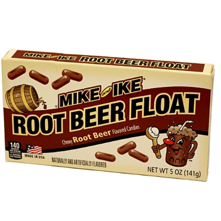 Image of a box of Mike and Ike Root Beer Float