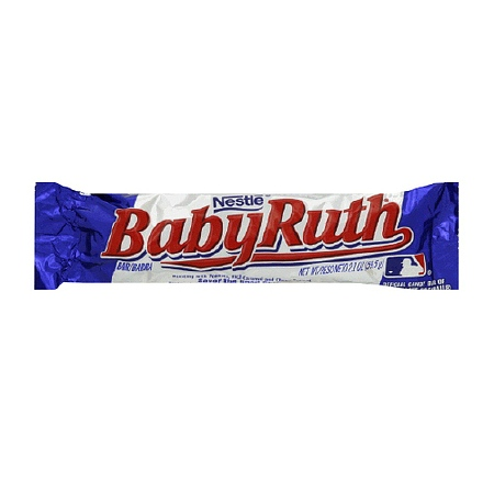 Image of a Baby Ruth Bar from Nestle America.