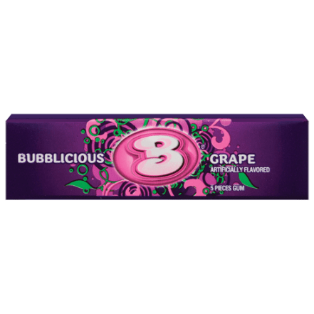 Image of a pack of Bubblicious Grape Bubblegum