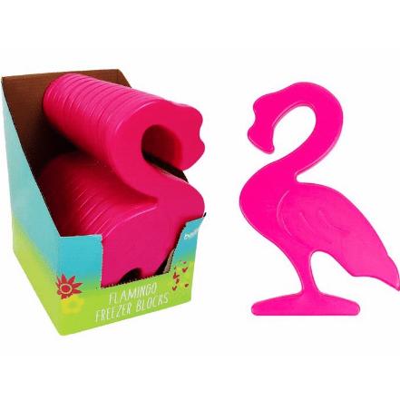 Image of a flamingo freezer block