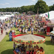 Image of crowd and stalls at retro festival