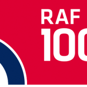 Image of the RAF 100 logo from upcoming events for rock pop candy
