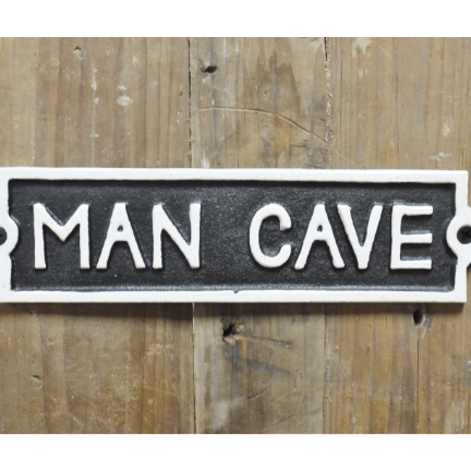 Image of the man cave cast iron sign