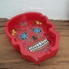 Image of the day of the dead ashtray in red