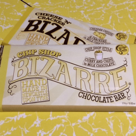 Image of a chip shop curry chocolate bar from the chocolate smiths