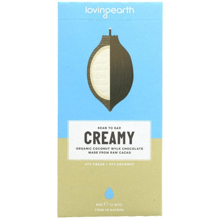 Image of the Loving Earth Creamy Coconut Mylk Chocolate bar