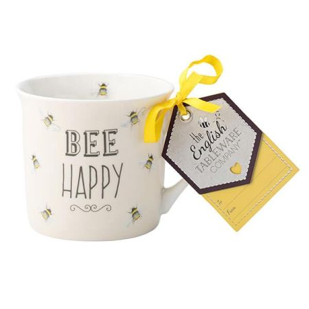 image of the Be Happy'English Tableware Mug
