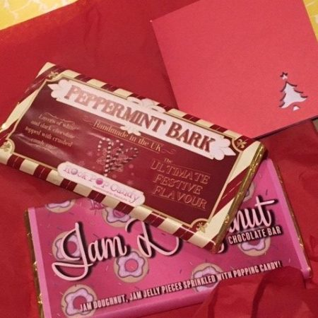Image of the letterbox gifting chocolate bars
