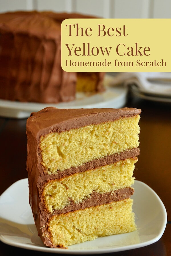The Best Yellow Cake Recipe Homemade From Scratch Rock