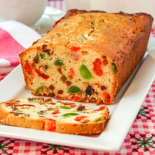 Fruitcake Loaf Cake. Quick, easy & with a rich, cream cheese batter base.