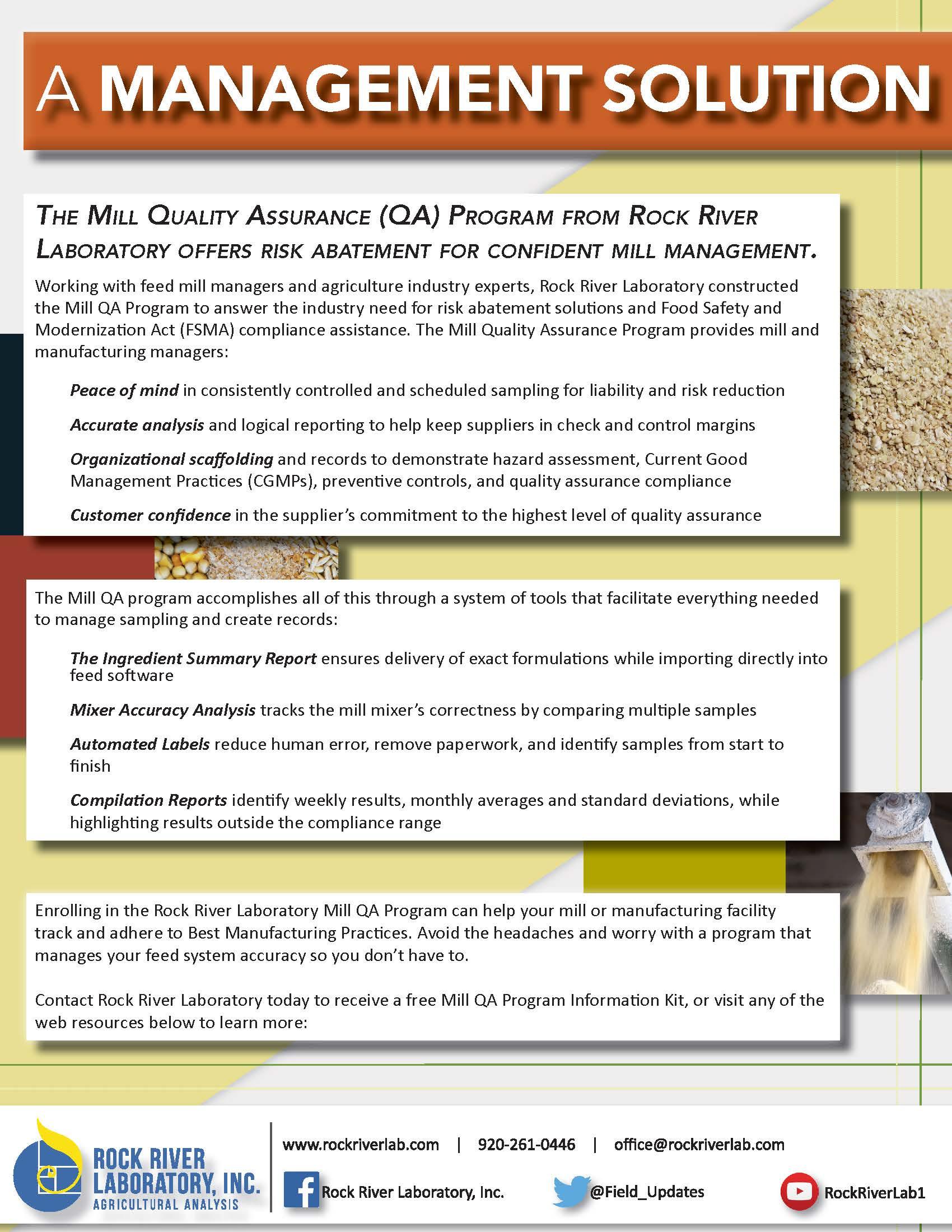 Mill Quality Assurance Program