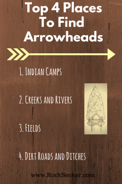 top places to look and hunt for arrowheads