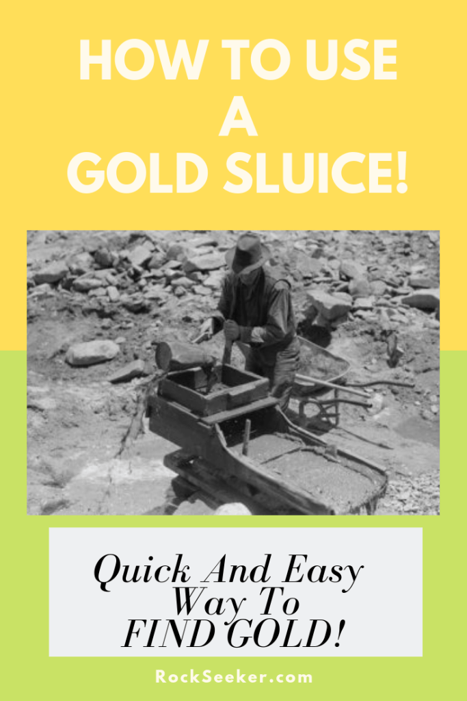 how to use a gold sluice