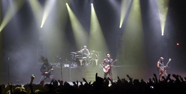 Trivium on stage at Defenders Of The Faith III at Brixton Academy