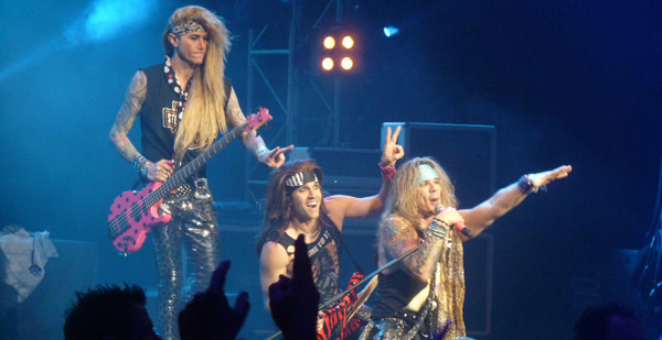 Steel Panther on stage at London's Brixton Academy March 2012