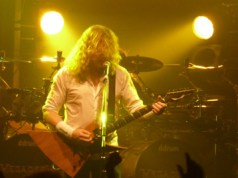 Dave Mustaine of Megadeth on stage at Camden's Electric Ballroom June 2012