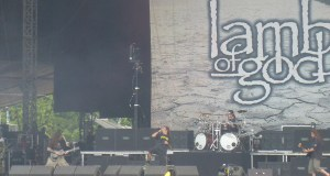 Lamb of God on stage at the Download Festival 2012