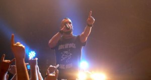 Killswitch Engage singer Jesse Leach on stage at London's Shepherds Bush Empire, May 2013