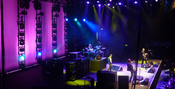 Alter Bridge's Full Stage setup at Wembley Arena October 2013