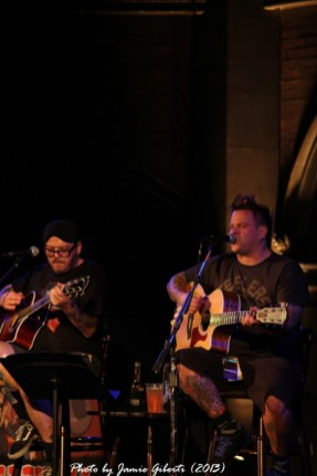 Jaret Reddick & Erik Chandler from Bowling For Soup on stage at Union Chapel, London, October 2013