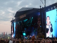 Linkin Park Full view of the main stage at Download Festival 2014