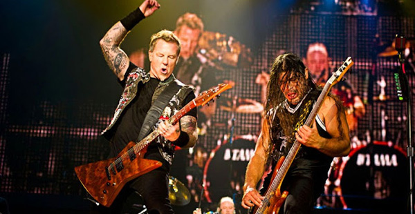 Metallica performing live in 2013. Photo credit Metallica.com.
