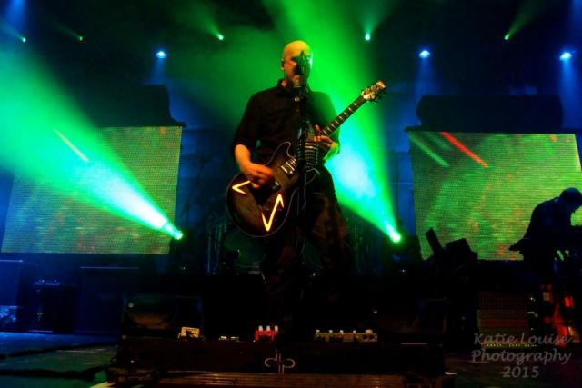 Devin Townsend on stage in Manchester