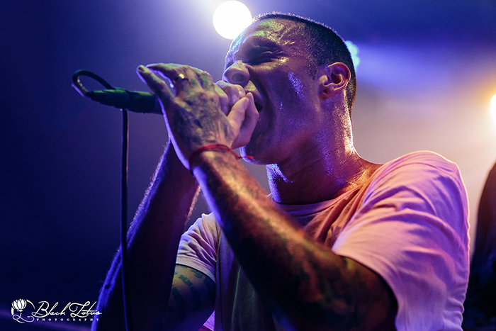 Letlive on stage at The Dome Tufnell Park 22nd April 2015