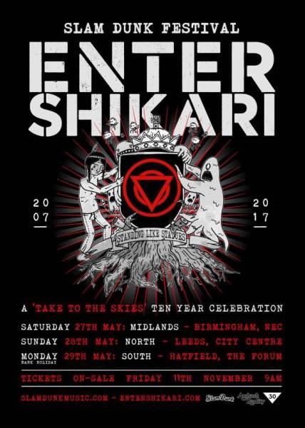 Slam Dunk Festival 2017 Enter Shikari Headline Poster