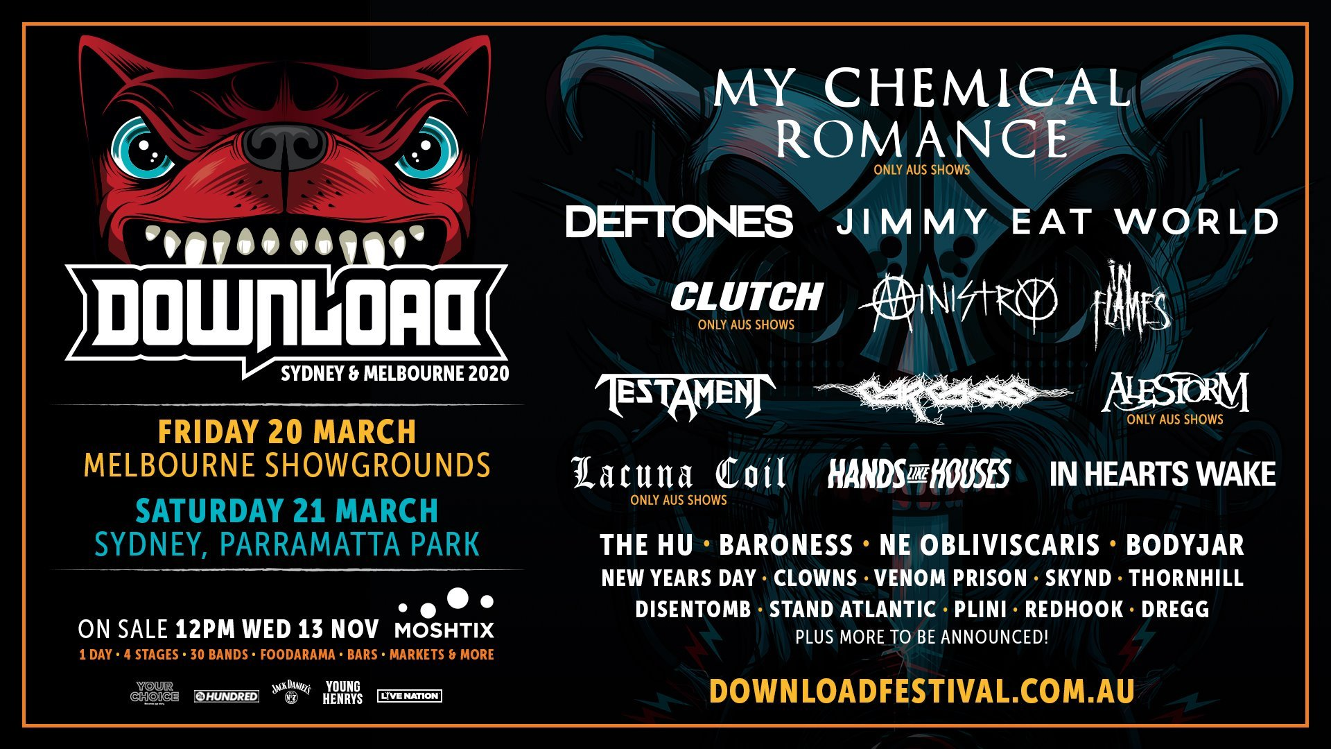 Download Australia 2020 Headliners Are My Chemical Romance