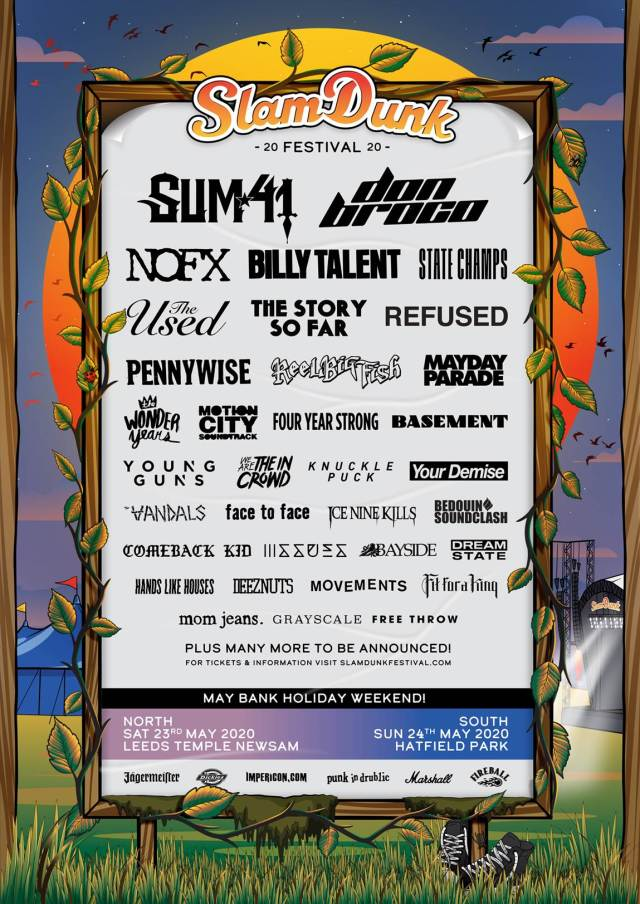 Slam Dunk Festival 2020 Third Line Up Poster