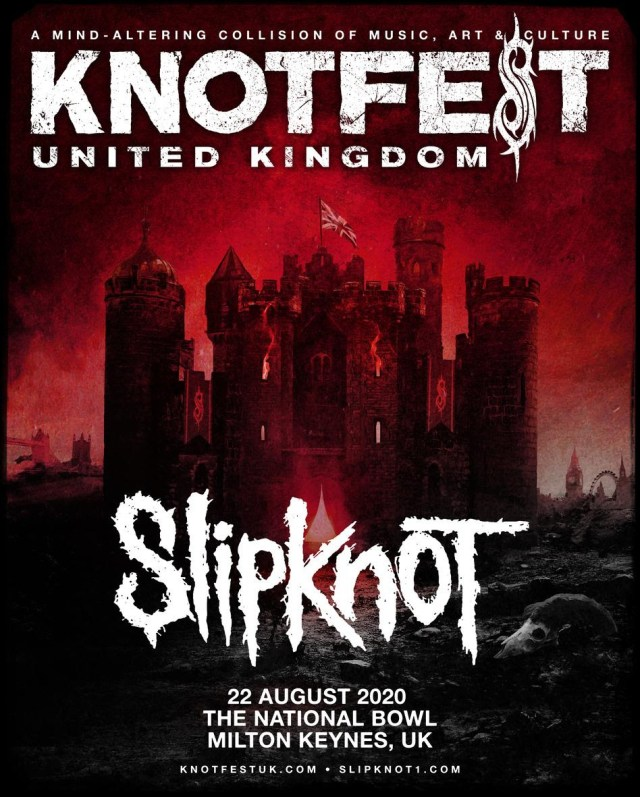 Slipknot Knotfest UK 2020 First Poster
