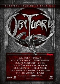 Obituary European Headlining Tour 2018