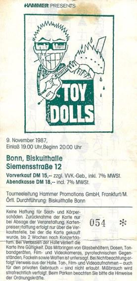 Toy Dolls 1987