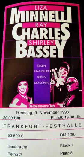 Liza Minnelli, Ray Charles, Shirley Bassey 1993