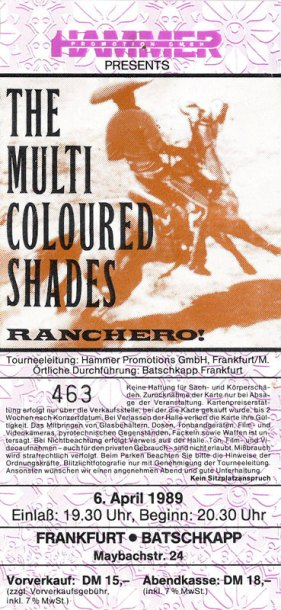 The Multicoloured Shades 1989